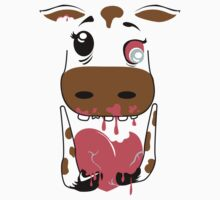 Zombie Animals COW Baby Tee