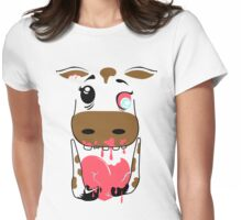 Zombie Animals COW Womens Fitted T-Shirt