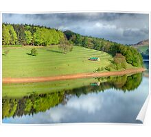 Ladybower Reflections - HDR Poster