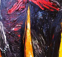 fragment of the picture PUZZLE BODY - canvas 16 x 22'' , oil, acrylic by irishrainbeau