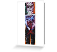 PUZZLE BODY - oil, acrylic, 3 pieces on a canvases 16 x 66'' Greeting Card