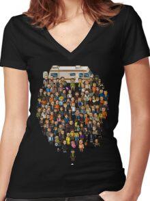 Super Breaking Bad Women's Fitted V-Neck T-Shirt
