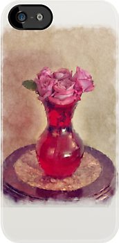 Red Vase by Dan  Wampler