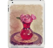 Red Vase iPad Case/Skin