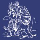 He-Man & Battlecat by jackandcharlie