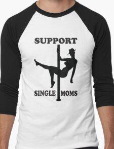 Support Single Moms Men's Baseball ¾ T-Shirt