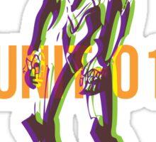 Duotone Overprint series: Unit-01  Sticker