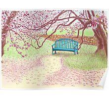 magnolia trees Poster
