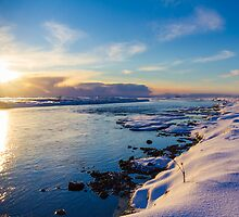 Winter Sunset by Silken Photography