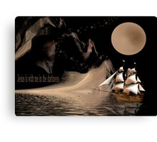 Jesus Is With Me In The Darkness Canvas Print
