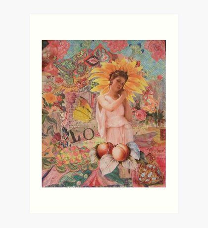 Sunflower and Peaches  Art Print