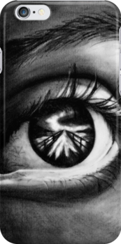 Eye In Charcoal by Jacqui Frank