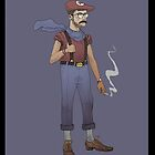 Hipster Mario by Idrawcartoons
