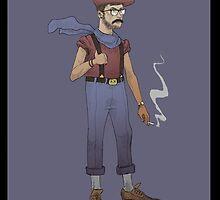Hipster Mario by Idrawcartoons
