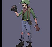 Hipster Luigi by Idrawcartoons