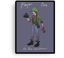 Hipster Luigi Canvas Print