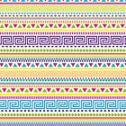 Basic Aztec Geometric Pattern by Jacqui Frank