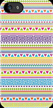 Basic Aztec Geometric Pattern by Jacqui Frank