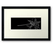 Daft samurai Framed Print