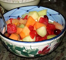 A Salad of Fruit in a Painted Bowl by SummerJade