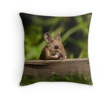 Field Mouse Snack Bar Throw Pillow