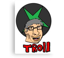 bill gates is a troll Canvas Print
