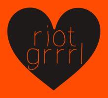 Riot Grrrl - Transparent Text Kids Clothes