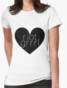 Riot Grrrl - Transparent Text T-Shirt
