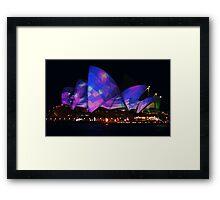 Lavender Blue Opera House Framed Print