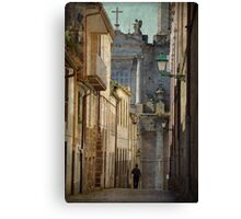 The angel and the priest Canvas Print