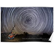 Time-exposure of polar star trails. Poster