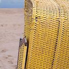 Yellow Beach Chair with Seaview by Cora Niele