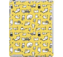 Yellow Kitties iPad Case/Skin