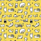 Yellow Kitties by HappyDoodleLand