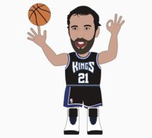 NBAToon of Vlade Divac, player of Sacramento Kings by D4RK0