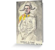 Postcard from Europe - Harlequin by Picasso Greeting Card