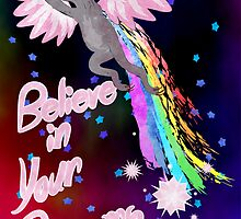 Believe In Your Dreams Sloth by amkili