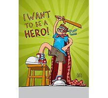Hero Boy Photographic Print