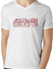 Love Dark Red Mens V-Neck T-Shirt