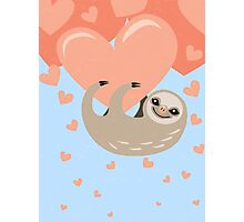 Hanging from your Heart Sloth Photographic Print