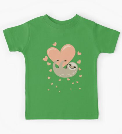 Hanging from your Heart Sloth Kids Tee