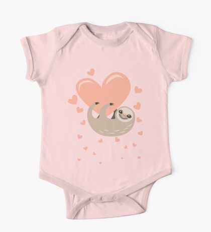 Hanging from your Heart Sloth One Piece - Short Sleeve