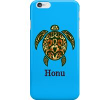 Golden Hawaiian Green Sea Turtle on Ocean Blue iPhone Case/Skin