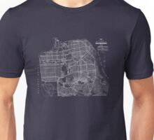 san francisco vintage map 1920 Unisex T-Shirt