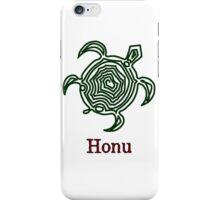 Petroglyph Hawaiian Green Sea Turtle on White iPhone Case/Skin
