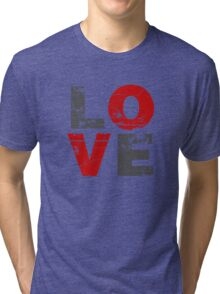 Love Distressed Valentines Day Tri-blend T-Shirt