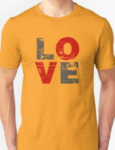 Love Distressed Valentines Day Unisex T-Shirt