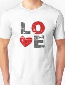 Love Heart Distressed Valentines Day Unisex T-Shirt