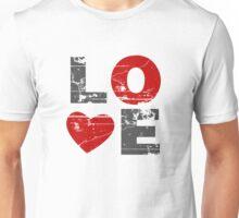 Love Heart Distressed Valentines Day Unisex T-Shirt