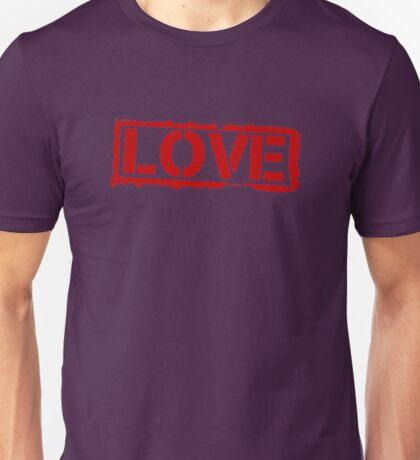 Love Stamp Valentines Day Unisex T-Shirt